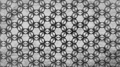 Black and Grey Floral Seamless Geometric Pattern Wallpaper Template