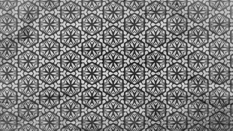 Black and Gray Geometric Seamless Ornament Pattern Wallpaper