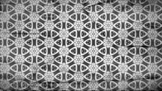 Black and Gray Geometric Ornament Seamless Wallpaper Pattern