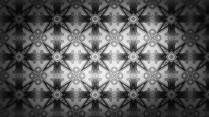 Black and Gray Geometric Seamless Ornament Pattern Background