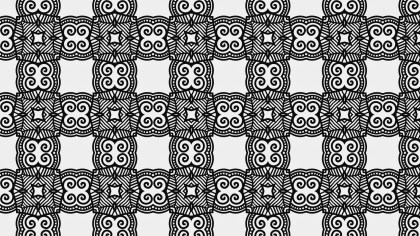 Black and White Ornamental Seamless Pattern Background Template