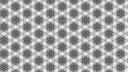 Black and White Seamless Ornamental Pattern Background