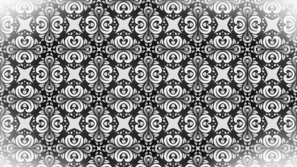 Black and White Floral Ornament Background Pattern Image