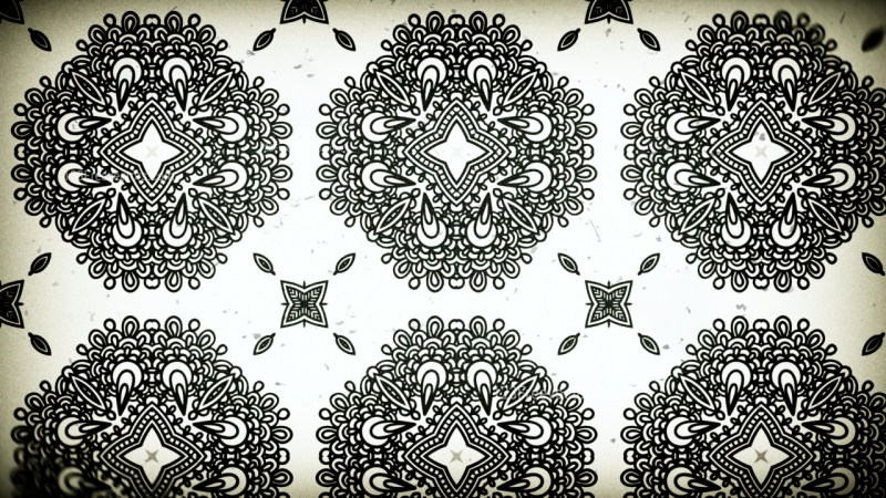 Black and White Vintage Ornamental Pattern Background