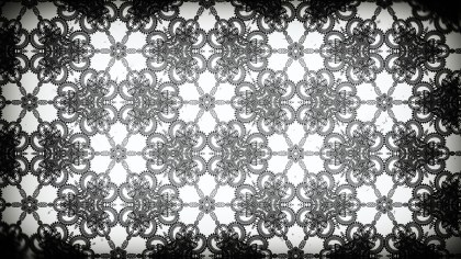 Black and White Vintage Decorative Floral Seamless Pattern Wallpaper Design