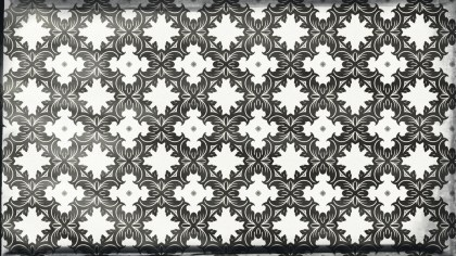 Black and White Vintage Seamless Floral Wallpaper Pattern