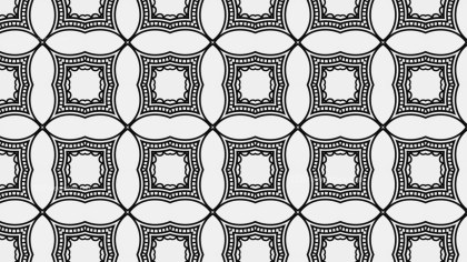 Black and White Decorative Geometric Seamless Background Pattern Graphic