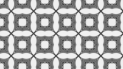 Black and White Decorative Geometric Seamless Background Pattern Graphic