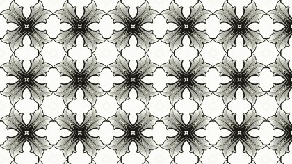 Black and White Geometric Ornament Background Pattern
