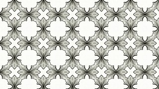 Black and White Geometric Ornament Seamless Background Pattern Design