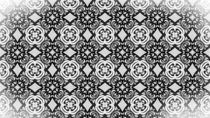 Black and White Seamless Geometric Ornament Background Pattern Design Template