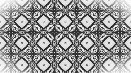 Black and White Decorative Seamless Pattern Wallpaper
