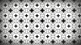 Black and White Geometric Seamless Ornament Pattern Background