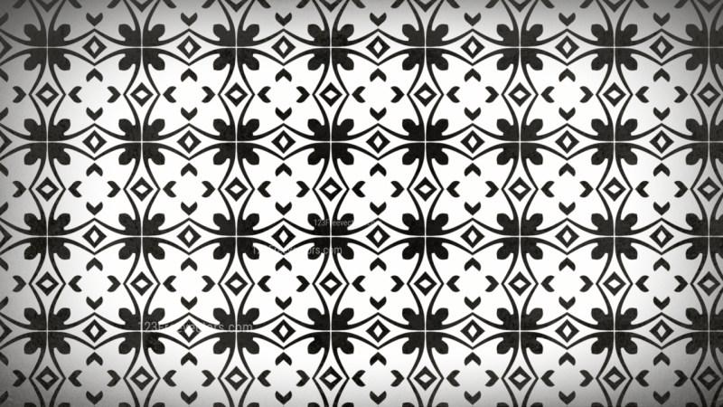 Black and White Geometric Seamless Pattern Background Image