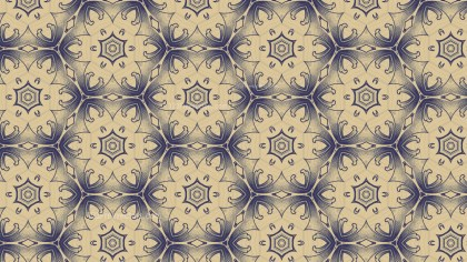 Blue and Beige Vintage Floral Wallpaper Background