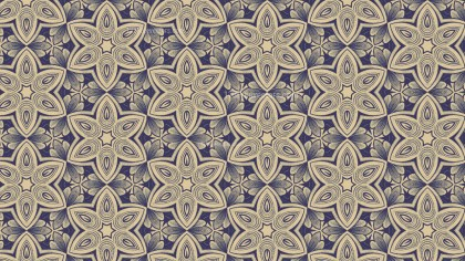 Blue and Beige Vintage Floral Pattern Texture Background Template