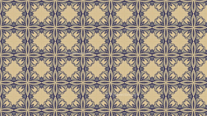 Blue and Beige Vintage Seamless Wallpaper Pattern Template