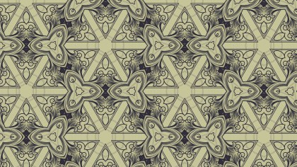 Blue and Beige Vintage Decorative Floral Pattern Background
