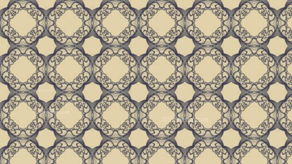 Blue and Beige Vintage Decorative Floral Ornament Background Pattern Design Template