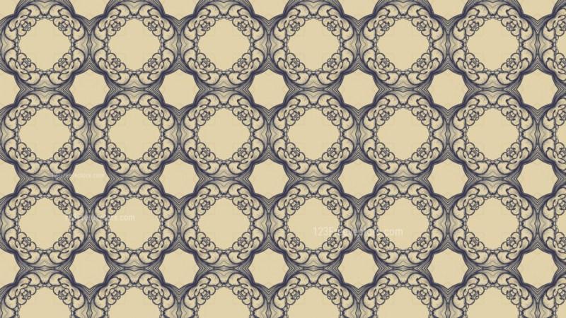 Blue and Beige Vintage Decorative Floral Ornament Background Pattern Design Template