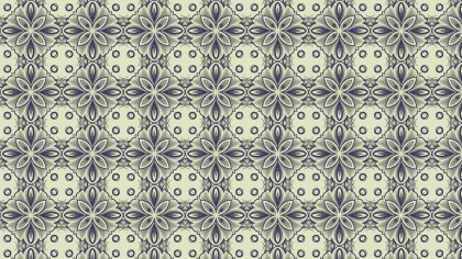 Blue and Green Vintage Seamless Floral Background Pattern
