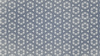 Blue and Gray Vintage Ornamental Pattern Wallpaper