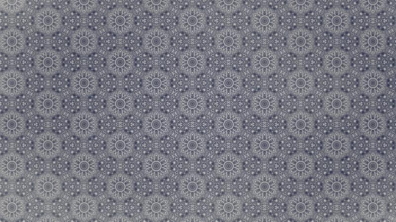 Blue and Grey Vintage Decorative Floral Ornament Wallpaper Pattern Image