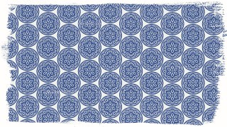 Blue and White Decorative Floral Pattern Wallpaper