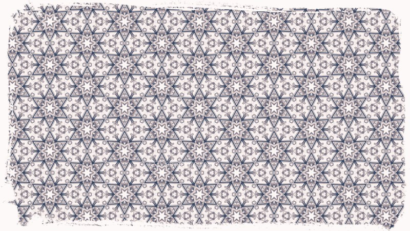 Blue and White Floral Seamless Pattern Wallpaper Graphic