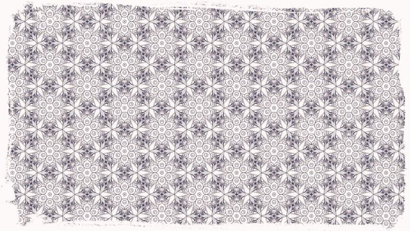 Blue and White Ornamental Pattern Wallpaper