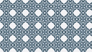 Blue and White Seamless Ornamental Pattern Wallpaper