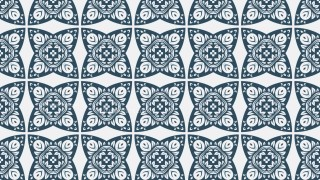 Blue and White Decorative Ornament Wallpaper Pattern