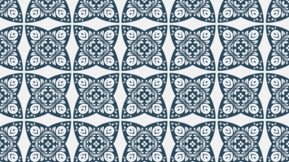 Blue and White Decorative Ornament Wallpaper Pattern