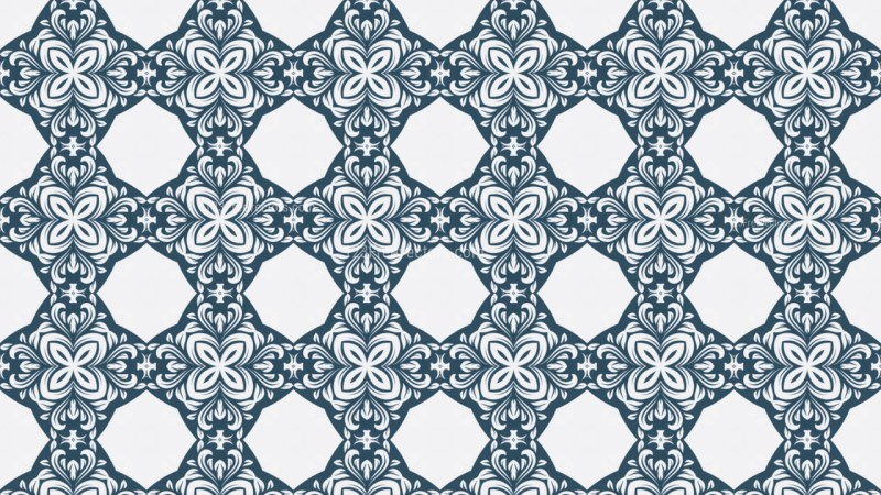 Blue and White Geometric Ornament Seamless Background Pattern Design