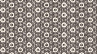 Brown Floral Seamless Pattern Background Template