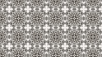 Brown Floral Ornament Background Pattern Graphic