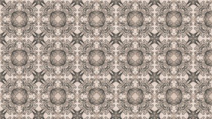Brown Decorative Floral Pattern Wallpaper