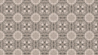 Brown Floral Pattern Wallpaper