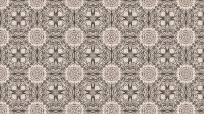 Brown Floral Pattern Wallpaper