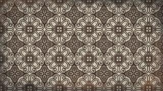 Brown Seamless Ornamental Pattern Wallpaper