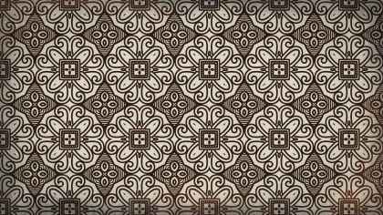 Brown Seamless Ornamental Pattern Wallpaper