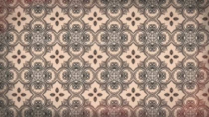 Brown Decorative Ornament Wallpaper Pattern