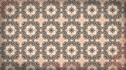 Brown Decorative Floral Pattern Background