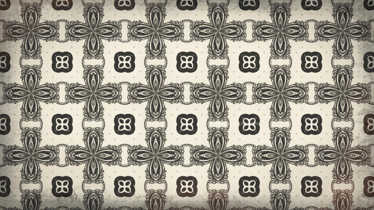 Brown Decorative Floral Seamless Pattern Background Design