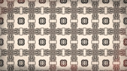 Brown Decorative Floral Seamless Pattern Background Design