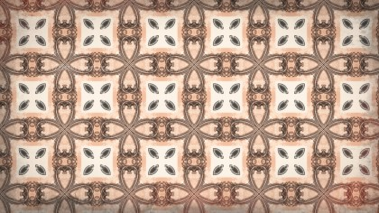 Brown Floral Pattern Background
