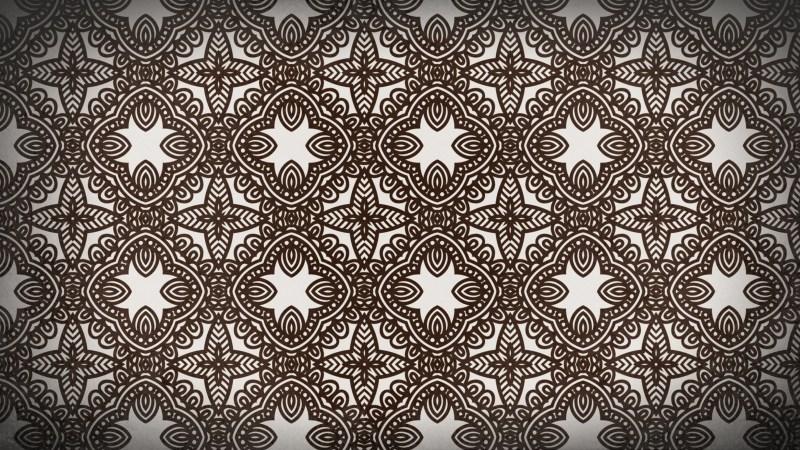 Brown Ornamental Pattern Background