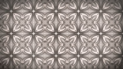 Brown Ornamental Seamless Pattern Background Design Template