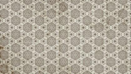 Brown Vintage Decorative Ornament Wallpaper Pattern
