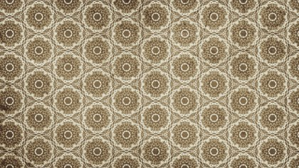 Brown Ornamental Vintage Background Pattern